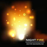 Night fire background vector Stock Photos