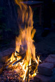 Night fire on a dark blue background Stock Photo