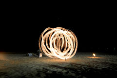 Night fire show Royalty Free Stock Photos