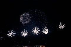 Night Firework. Kazan city, night, firework at the river stock image