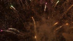 Night fireworks shot in 4k uhd stock video footage