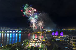 Night fireworks Royalty Free Stock Photography