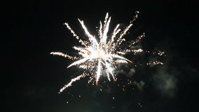 Night fireworks in the sky for a holiday stock footage
