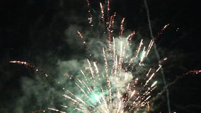 Night fireworks in the sky for a holiday. stock video footage