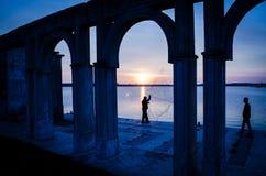 Night fisherman Royalty Free Stock Image