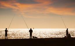 NIGHT FISHING Royalty Free Stock Photo
