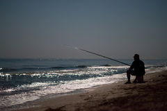 Night Fishing at sea Royalty Free Stock Image