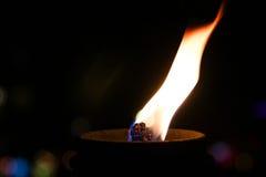 Night flame. Royalty Free Stock Photos