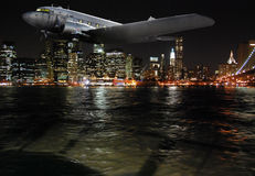 Night Flight Stock Photography