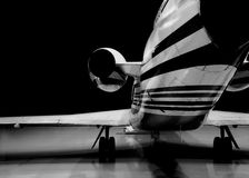 Night flight. Airplane,a wing of airplane Royalty Free Stock Image