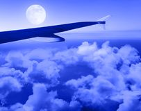 Night flight Royalty Free Stock Photography