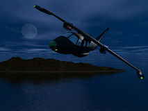 Night Flight Royalty Free Stock Photo