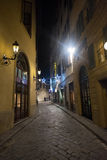 Night In Florence. Streets of Florence by Night Royalty Free Stock Image
