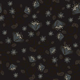 Night flowers background. Dark seamless background with night flowers Vector Illustration