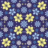 Night flowers seamless pattern Stock Photos