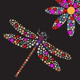 Night fly vector illustration