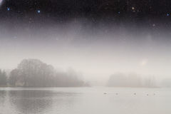 Night fog . Stock Images