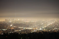 Night Fog Los Angeles Stock Image