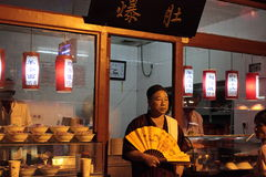 Night food market in Beijing Royalty Free Stock Photography