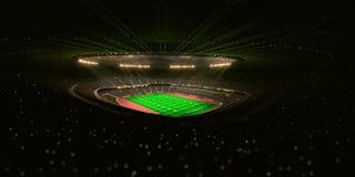 Night football arena Stadium Stock Photography
