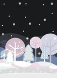 Night Forest Winter Royalty Free Stock Images