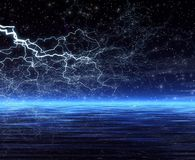 Night. Forked lightning Royalty Free Stock Image