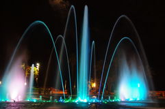 Night Fountain Stock Photos