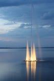 Night fountain Stock Image