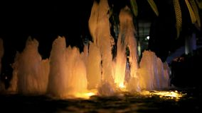 Night fountain with lights. HD. 1920x1080 stock video