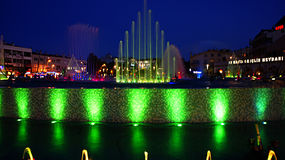Night fountain Royalty Free Stock Images