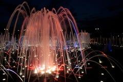 Night fountain at Tsaritsino Stock Images