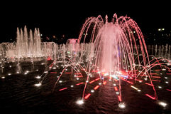 Night fountain in Tsaritsino Royalty Free Stock Photography