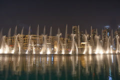 Free Night Fountains Dubai Stock Photography - 31188412