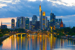 Night Frankfurt Royalty Free Stock Photos