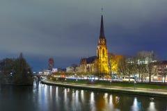 Night Frankfurt am Main, Germany Royalty Free Stock Photo