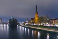 Night Frankfurt am Main, Germany Royalty Free Stock Image