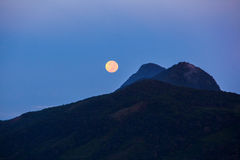 Night and full moon Royalty Free Stock Photo