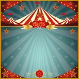 Night fun circus square stock image