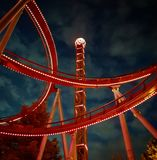 Night at the funfair royalty free stock photos