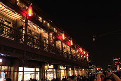 The night of FuZimiao. Is very beauty because this light Royalty Free Stock Photos