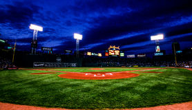 Night Game at Fenway Park, Boston, MA. Stock Image