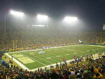Night Game Lambeau Field Home 2 Green Bay Packers. Night game at Lambeau Field, home of the Green Bay Packers. They say this stadium is the greatest fan Royalty Free Stock Images