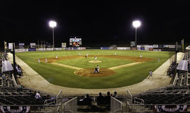 Night Game - Minor League Baseball Stadium Stock Photography