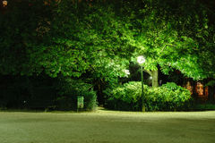 Night garden in Paris downtown Royalty Free Stock Photography