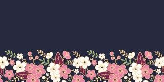 Night garden sakura blossoms horizontal seamless Stock Photography