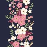 Night garden sakura blossoms vertical seamless Royalty Free Stock Photos