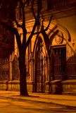 Night Gate. Night Gate of Church royalty free stock photos