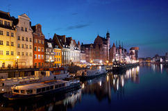 Night Gdansk, Poland Royalty Free Stock Photography