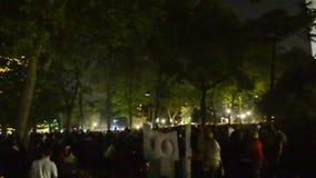 Night at Gezi Park stock video footage