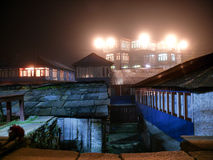 Night in Ghorepani village, Nepal. Annapurna circuit, Way to Poon Hill, Nepal Stock Photo